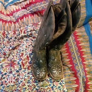 Womens underlay cowgirl boots